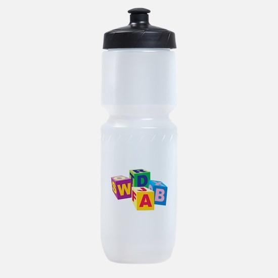 Toy Letter Blocks Sports Bottle