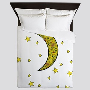 Moon Stars  Queen Duvet