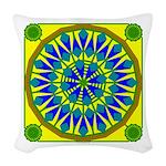 Window Flower 02 Woven Throw Pillow