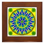 Window Flower 02 Framed Tile