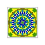 Window Flower 02 Square Sticker 3