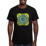Window Flower 02 Men's Fitted T-Shirt (dark)