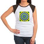 Window Flower 02 Women's Cap Sleeve T-Shirt