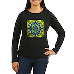 Window Flower 02 Women's Long Sleeve Dark T-Shirt