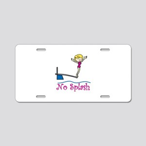No Splash Aluminum License Plate