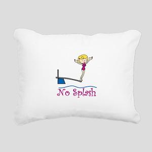 No Splash Rectangular Canvas Pillow