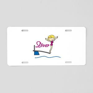 Diver Woman Aluminum License Plate