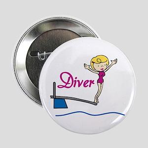 """Diver Woman 2.25"""" Button"""