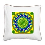 Window Flower 01 Square Canvas Pillow