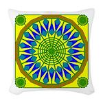 Window Flower 01 Woven Throw Pillow