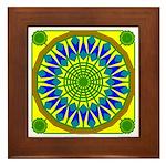 Window Flower 01 Framed Tile