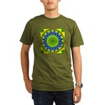 Window Flower 01 Organic Men's T-Shirt (dark)