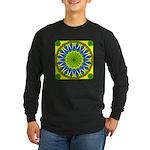 Window Flower 01 Long Sleeve Dark T-Shirt
