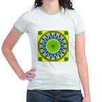 Window Flower 01 Jr. Ringer T-Shirt