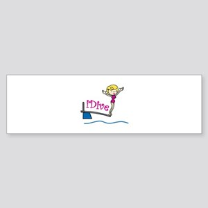 iDive Woman Bumper Sticker