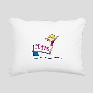 iDive Woman Rectangular Canvas Pillow
