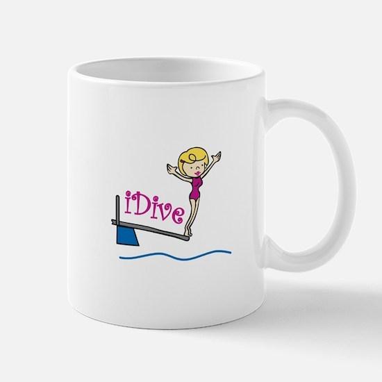 iDive Woman Mugs
