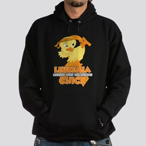 Leukemia Messed With The Wrong Chick Hoodie (dark)