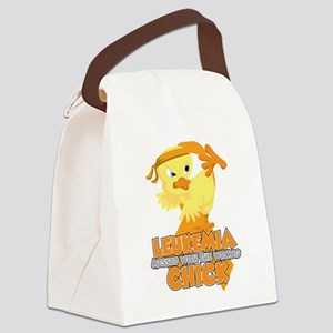 Leukemia Messed With The Wrong Ch Canvas Lunch Bag