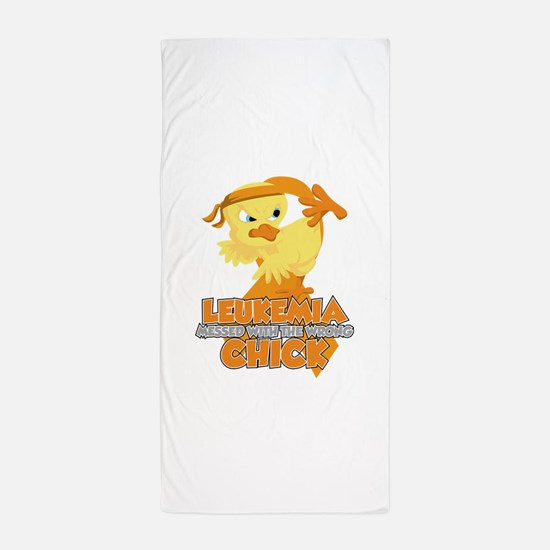 Leukemia Messed With The Wrong Chick Beach Towel