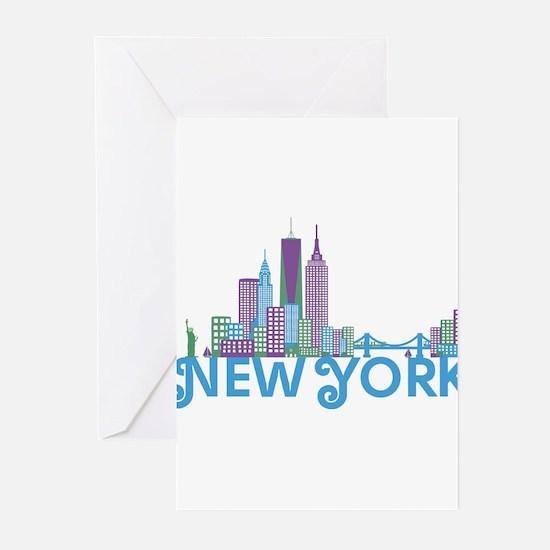 Skyline New York Greeting Cards