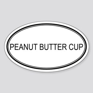 PEANUT BUTTER CUP (oval) Oval Sticker