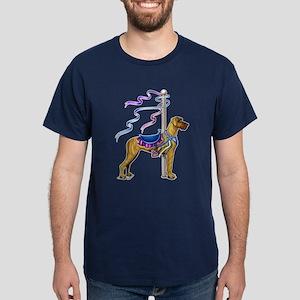 Great Dane Brindle UC Carousel Dark T-Shirt