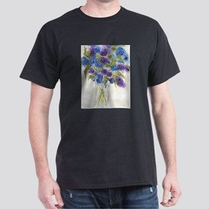 Blue Violet Pansy Flowers T-Shirt