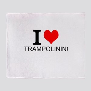 I Love Trampolining Throw Blanket