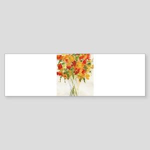 Yellow Orange Flowers Bumper Sticker