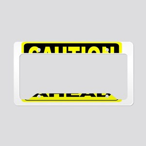 Loud Mouth Ahead Wide License Plate Holder