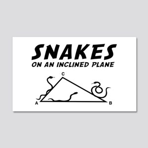 Snakes inclined plane Wall Decal