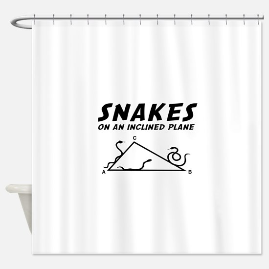 Snakes inclined plane Shower Curtain