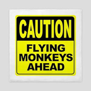 Flying Monkeys Ahead Queen Duvet