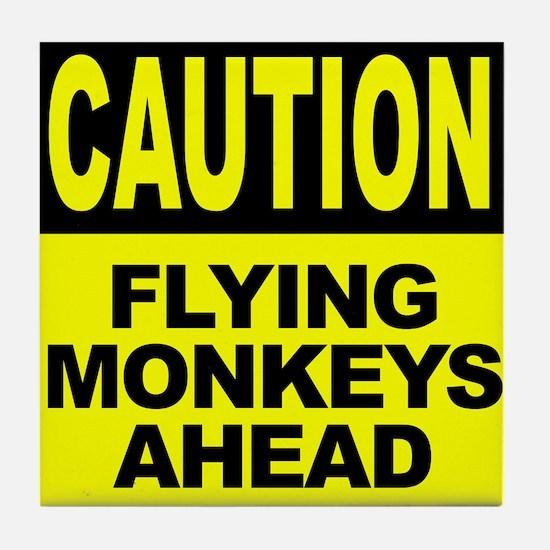 Flying Monkeys Ahead Tile Coaster