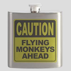 Flying Monkeys Ahead Flask