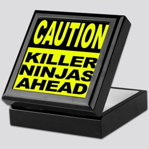 Killer Ninjas Ahead Keepsake Box
