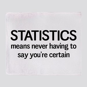 Statistics certain Throw Blanket