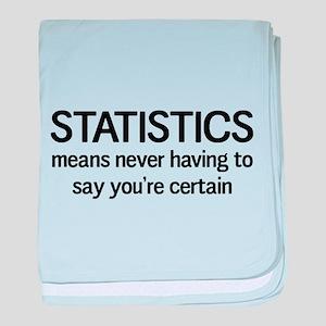 Statistics certain baby blanket