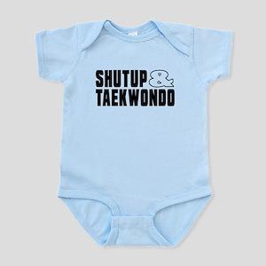 Shut Up And Taekwondo Baby Light Bodysuit