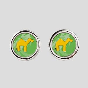 Camel Round Cufflinks