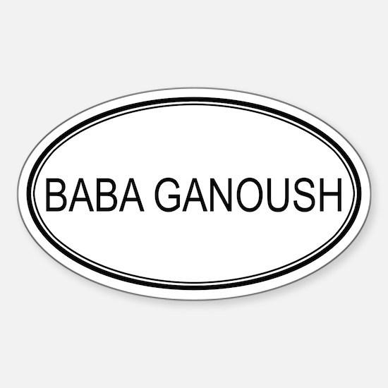 BABA GANOUSH (oval) Oval Decal