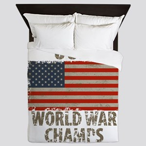 Usa, World War Champs Queen Duvet