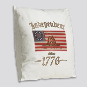 Independent Burlap Throw Pillow