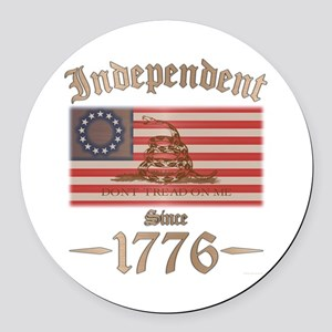 Independent Round Car Magnet