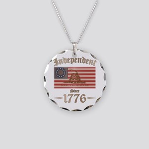 Independent Necklace Circle Charm