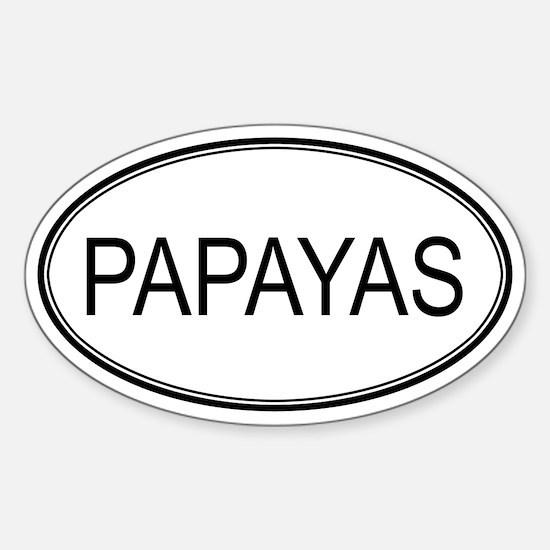 PAPAYAS (oval) Oval Decal