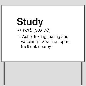 Study definition Yard Sign