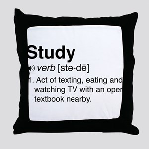 Study definition Throw Pillow