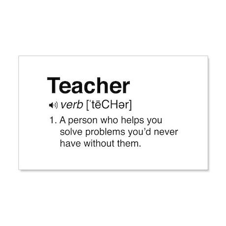 Teacher Definition Wall Decal by schoolgeek